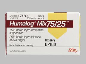 Humalog Mix 75 25 Vial 10ml Drug Information Pharmacy Walgreens