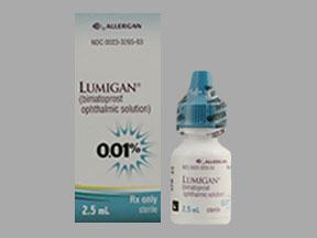 Lumigan 0 01% Ophth Soln 2 5ml | Drug Information | Pharmacy