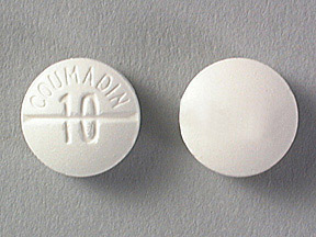 COUMADIN **10MG** TABLETS (WHITE)