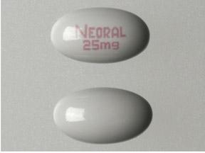 NEORAL 25 MG CAPSULES