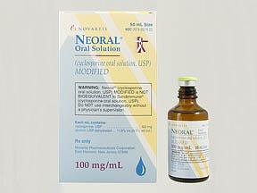 Neoral 100mg/ml Oral Soln50ml | Drug Information | Pharmacy