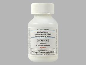 AMOXICILLIN 125MG/5ML SUSP 80ML