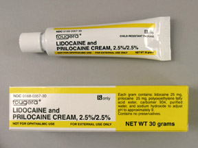 LIDOCAINE/PRILOCAINE CREAM 30GM