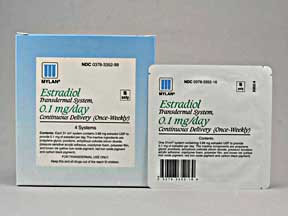 ESTRADIOL 0.1MG/DAY PATCHES 4'S
