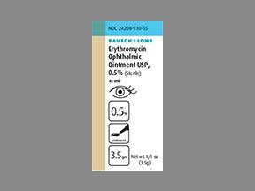 ERYTHROMYCIN OPHTH OINT 3.5GM
