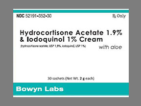 Hydrocort/Iodoq 1-1 9% Cream 60gm | Drug Information