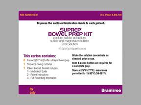 Suprep Bowel Prep Soln Drug Details Pharmacy Walgreens