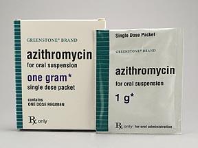 AZITHROMYCIN 1GM PAK POWDER