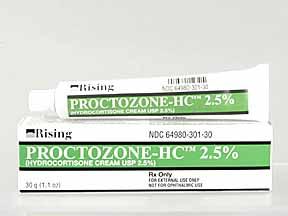 Proctozone Hc 2 5 Cream 30gm Drug Information Pharmacy Walgreens