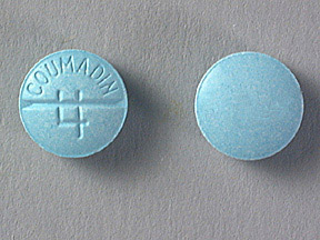 COUMADIN 4MG TABLETS (BLUE)