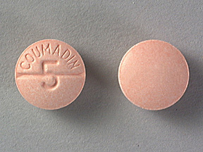 COUMADIN 5MG TABLETS (PEACH)