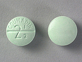 COUMADIN 2.5MG TABLETS (GREEN)