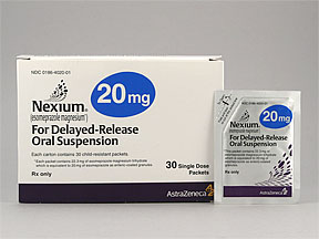 NEXIUM 20MG POWDER PACKETS