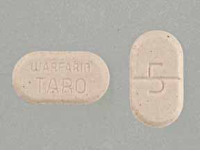 WARFARIN SOD 5MG TABLETS (PEACH)