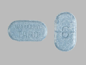 WARFARIN SOD 6MG TAB (BLUISH GREEN)