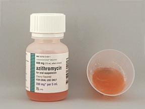AZITHROMYCIN 200MG/5ML SUSP 15ML