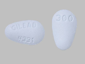 VIREAD 300MG TABLETS